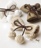 Min.Order $15(Mix order) Free shipping.Korean Style Boutique Vivi Rabbit Hair Cherry Bowknot Lob Gris Hair Clip.10*6cm.