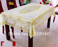 High-grade plastic hollow square Pvc table cloth table cloth gilt waterproof and oil heat do not wash cloth pvc tablecloth meal