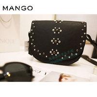 mango shoulder diagonal package female bag rivets MNG punk 2013 latest product - Free shipping