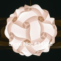 2014 hot sale jigsaw lamp puzzle lamp iq lamp size L 10 sets(300pieces) color white