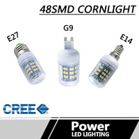 8LED 3528SMD Corn Light Lamp Bulb E27 G9 E14 3W 290lm Warm White LED Energy Saving Light Bulb AC220-240V