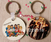 New Free Shipping Pairs Quality Cute and Lovely Six Friends R-C-J-M-R-P KeyChains ---Loveful
