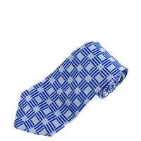 TE72#60 Luxury White Blue 2014 new Free shipping Lattices Classic Elegant Woven 100 Silk Necktie Man's Tie