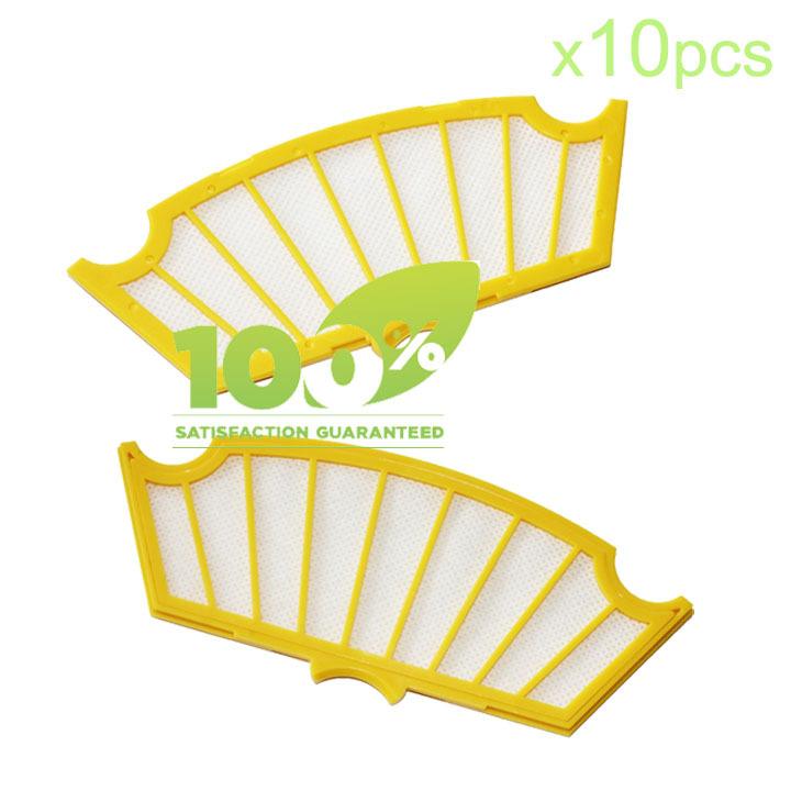 10 Piece Replacement Filter for iRobot Roomba 500 510 530 540 550 560 580 Vacuum(China (Mainland))