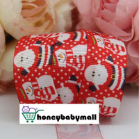 Free Shipping 7/8'' (22mm) Grosgrain Ribbon,Printed merry christmas with Xmas tree Ribbon,100yards/lot.