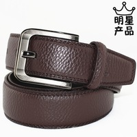 Crocodile strap male genuine leather casual pin buckle wide belt pure cowhide gossip all-match belt  Free shipping