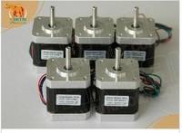 Super Wantai 5 PCS, Nema 17 Stepper Motor 4000g.cm,1.7A,2phases (CE,ROSH)42BYGHW609, CNC Robot 3D Makebot Reprap Printer