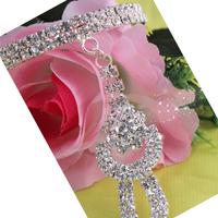 Free shipping 2PCS/lot charm bracelet with White Rhinestone,Beautiful Bracelet,Fashion Wedding Jewelry,BG115309