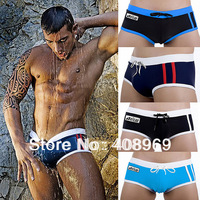Plain Color Men's Boxers Trunks Swimming Wear Tight Tether Sexy Style Size M L XL FREE SHIPPING