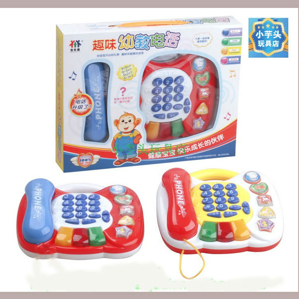Free Shipping Battery Operated Telphone Edcational Baby Toy, Latest Design Fashion Telphone Toys,Kid Christmas Gift Listen Music(China (Mainland))