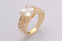 Pure Crystal 18k Solid Gold Filled Ring, Ring for Women, Enagement Rings, Jewelry Gift, Factory Price, Free Shipping, R196