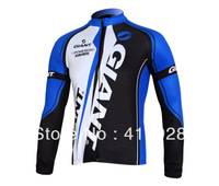 Hot sale!GIANT classic blue white  long sleeves cycling jacket,bicycle clothing,free shipping