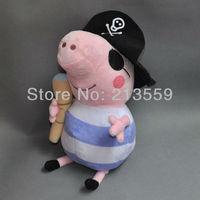 "Free Shpping 2013 Pirate Peppa George Pig Pirates Doll Peppa Pig Anime Figure Plush Toys 7"""