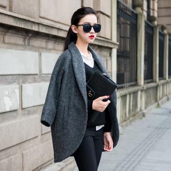 Zz 2013 fashion loose wool coat suit jacket female zd06131