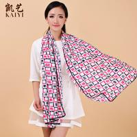 Free shipping Scarf long chiffon print scarf women's sunscreen large cape 067