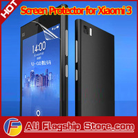 In Stock! High Quality Original Xiaomi mi3 m3 Quad Core phone transparent Protector Screen film 10pcs/lot, Free Shipping