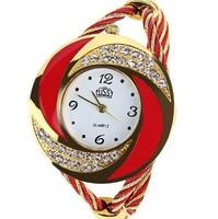 New fashion luxury brand watches, ladies diamond quartz watch, cyclone ring style gold alloy bracelet watch Swiss Military Watch