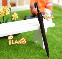 iland 1/12 Dollhouse Miniatures Black Umbrella Material Plastic and Fabric HO011B