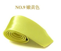 Neutral  adult fashion quality tie Bright yellow color