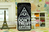 Cool eysball triangle letters case cover for iPhone 4 4s fashion luxury frosted hard back cases for iPhone4 MOQ:2 (PG52O)