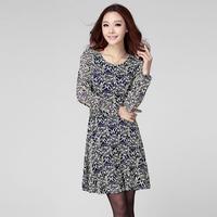clothes big size clothing autumn slim lace decorative pattern one-piece dress
