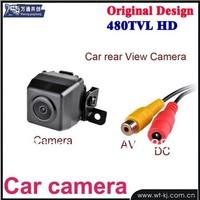 Mini Car Rear View Reverse Backup Parking Waterproof CMOS Camera Black,retailed package+free shipping Wholesale