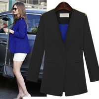 New 2013 autumn -summer fashion  long-sleeve slim blazer outwear for women American style short jacket for ladies