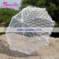 10pcs/lot White Wedding Lace Umbrella Parasol
