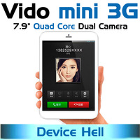 free shipping original window vido mini 3G phone call tablet pc android 4.2 quad core GSM/WCDMA GPS navigation dual camera