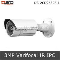 2013 Varifocal Home Security System Night Vision Hikvision Bullet Vandal Proof Network CCTV Camera IP DS-2CD2632F-I