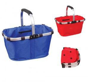Folding shopping folded basket eco-friendly shopping oxford fabric shopping basket(China (Mainland))