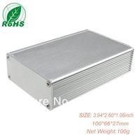 Aluminum extrusion enclosure /electronic enclosure  100*66*27mm 3.94*2.60*1.06inch
