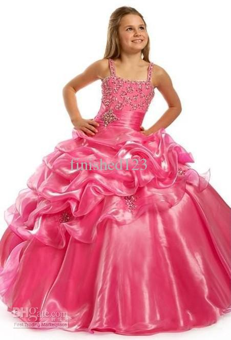 wholesale flower girls spaghetti gown