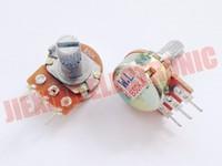 Free shipping 20PCS /LOT B50K 50K 50KR 50K OHM 15mm 3pin WH148 Linear Taper Rotary Potentiometer Pot