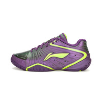 Free Shipping by EMS 1 Pair Original  LiNing AYAG003 Purple Badminton Shoes Light Ventilate Antiskid Sneaker