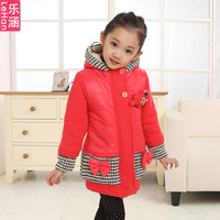 Girls clothing 2013 outerwear female child sweatshirt faux two piece cardigan wadded jacket sweatshirt medium-large female child