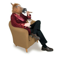 Horse Head Mask Latex Animal Costume Prop Gangnam Style Toys Party Halloween