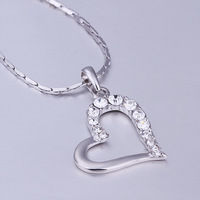 rhinestone pendant Large heart-shaped charm inlaid Czech drilling glass pendants