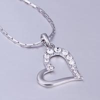 rhinestone pendant Large heart-shaped charm inlaid Czech drilling glass pendants