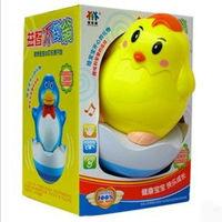 Free Shipping 1Pcs/Lot Shining Plastic Penguin Budaoweng Tumbler animal Plastic Tumbler Vocalization ABS Baby Toy