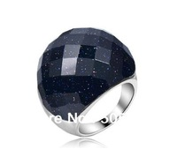 Austria Crystal Ring/jewelry rings for women/double ring/Lovers ring color restoring ancient stars