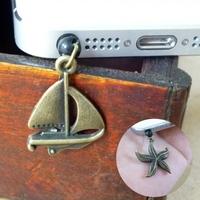 Plaid pavans accessories vintage mobile phone antique mobile phone dust plug