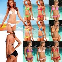 2013 Sexy women Swimwear Swimsuit Shoulder Strap Bikini Bathing Suit women ray bans shorts women dress XXL  blcak s1001 bolsa