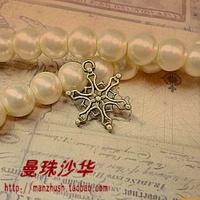 Zakka antique diy handmade accessories material 19 15mm vintage cutout pendant