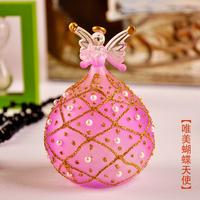 Goldenbarr mxmade handmade glass butterfly lovers gift home decoration