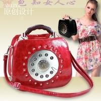 Amelia women's vintage bag one shoulder handbag women's handbag personality telephone messenger bag small