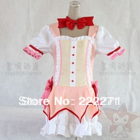 Puella Magi Madoka Magica Madoka Kaname Cosplay costume  Halloween Dress Japanese  Suit Free