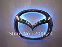 Free Shipping ! .Car LED Badge light, auto LED light car led logo for MAZDA size of 10.1cm X 7.9cm
