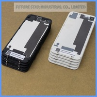 50pcs/lot Glass Battery Back Housing Cover for Apple iPhone 4S/4G CDMA, Black and White, Free Shipping