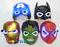 The superhero iron man Batman toys Green Giant Spider Man LED flashing mask